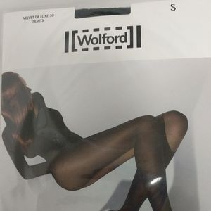 Wolford Velvet Deluxe 50 Tights Size Small Black